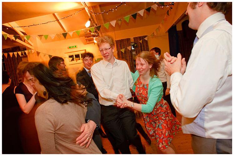 Anglesey Abbey wedding energetic dancing