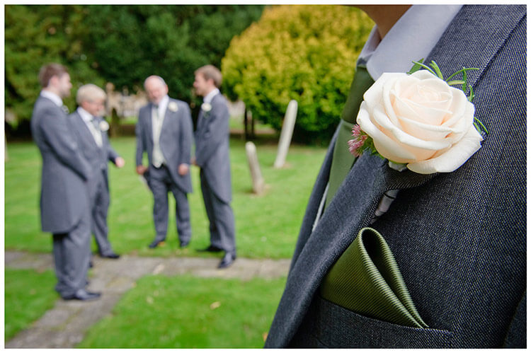 Hemingford Grey wedding grooms button hole