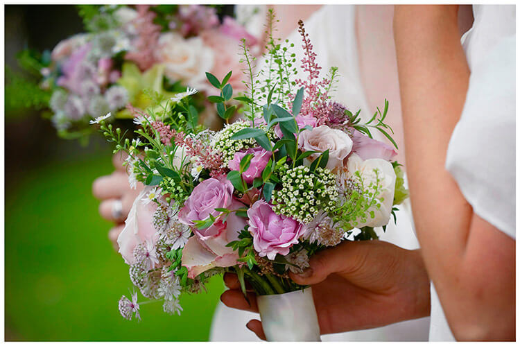 Hemingford Grey wedding bridesmaids bouquet
