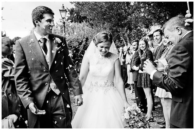 Hemingford Grey wedding confetti