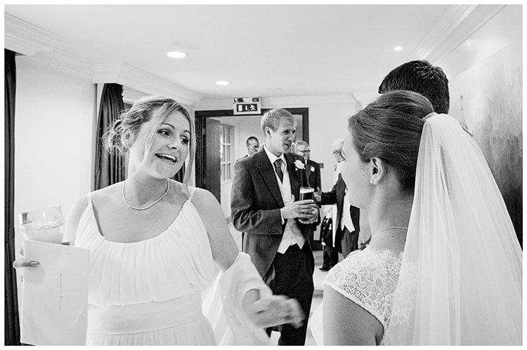 belfry hotel wedding bridesmaid receiving line