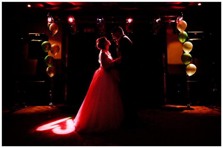 belfry hotel wedding groom bride during first dance