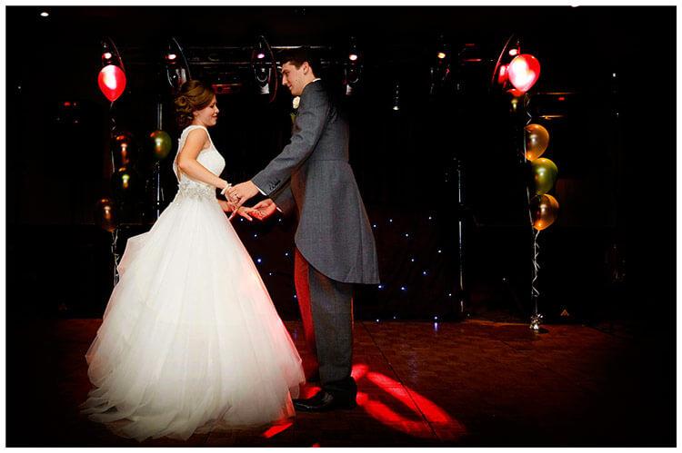 belfry hotel wedding bride groom first dance