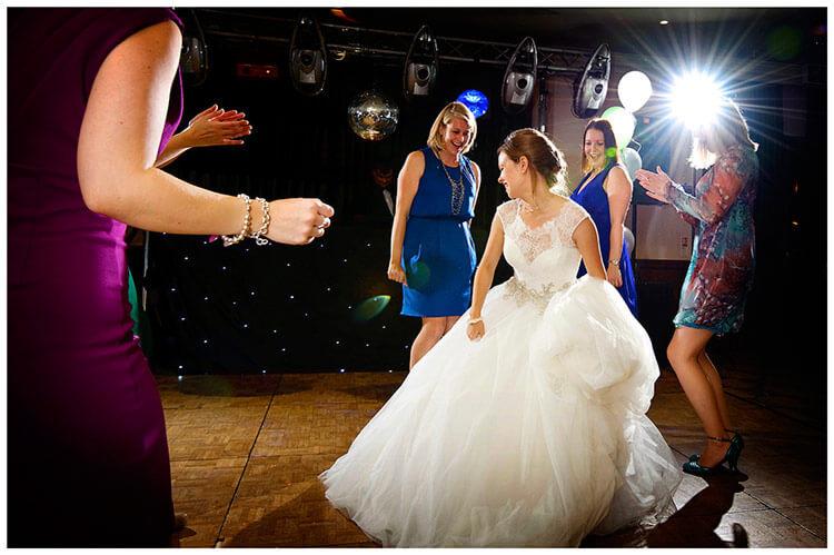 belfry hotel wedding bride and guests dancing