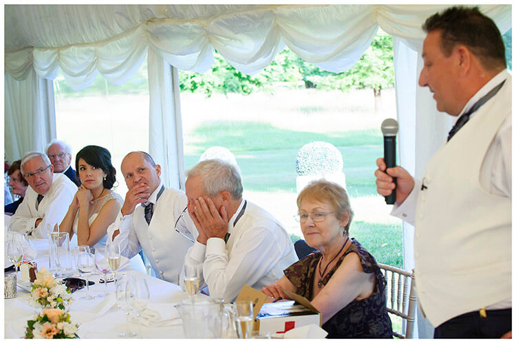 chippenham park summer wedding best mans speech