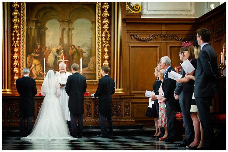 Emmanuel College wedding ceremony