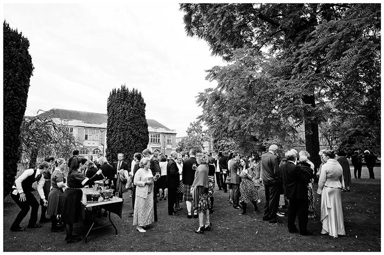 Emmanuel College wedding celebrations in fellows gardens