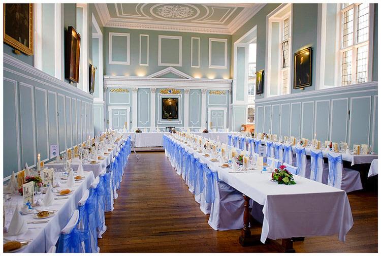 Emmanuel College wedding grand hall