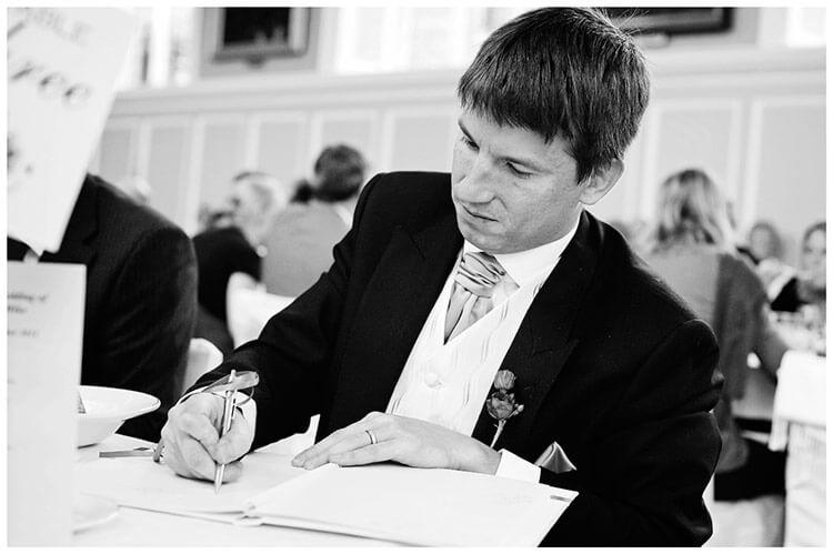 Emmanuel College wedding writing message of congratulation