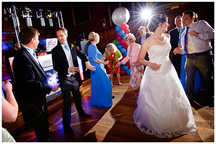 Emmanuel College wedding bride groom guests on dance floor