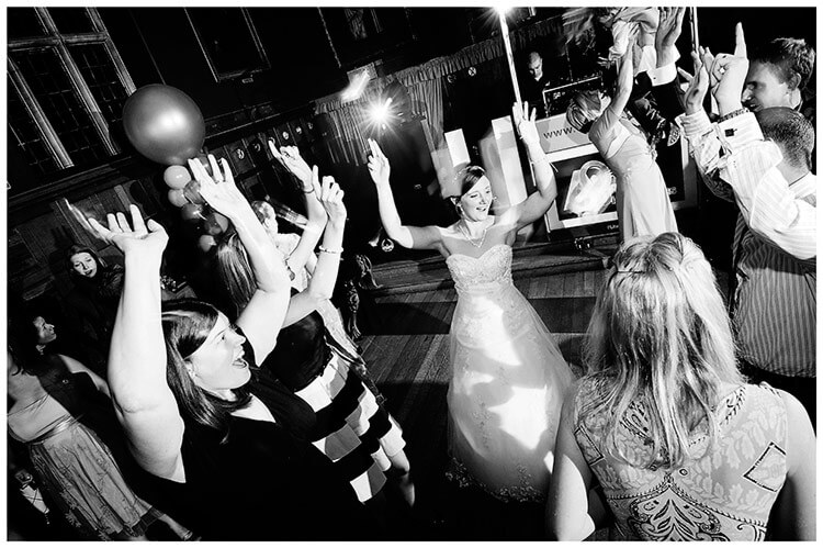 Emmanuel College wedding bride on dance floor