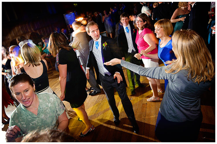 Emmanuel College wedding groom on dance floor