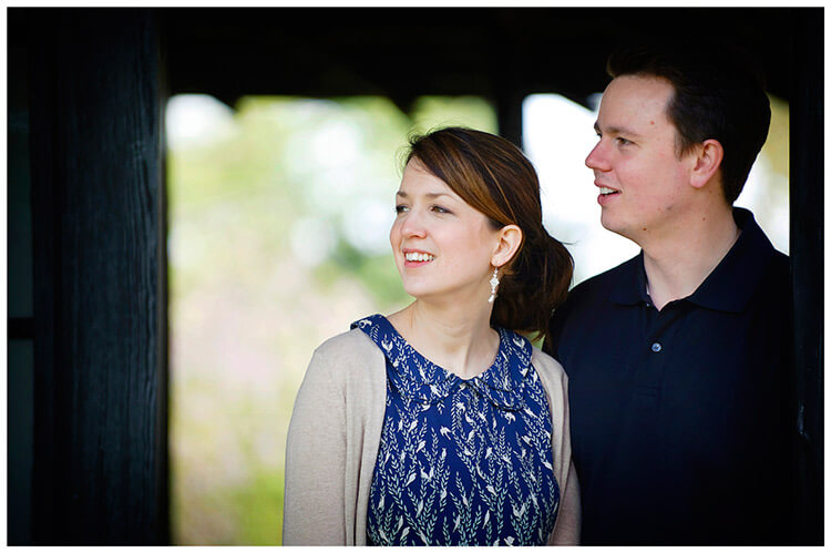 Fanhams Hall pre-wedding couple portrait