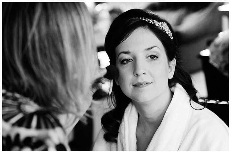 Fanhams Hall wedding bride make up