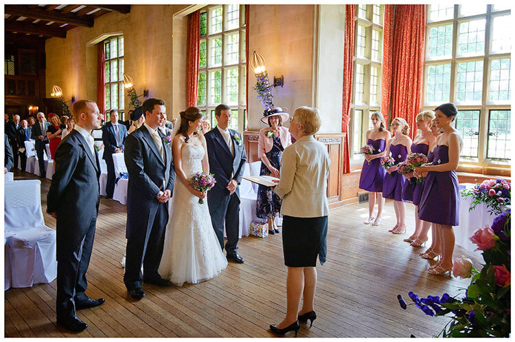 Fanhams Hall wedding ceremony