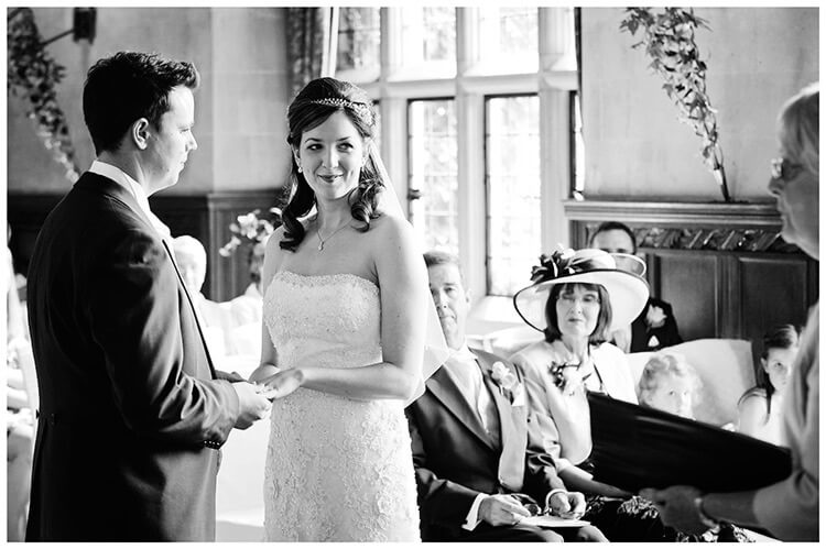 Fanhams Hall wedding vows