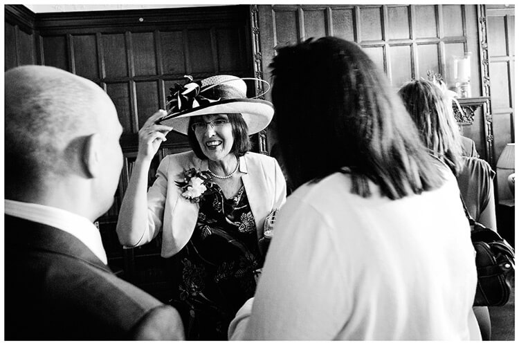 Fanhams Hall wedding my hat
