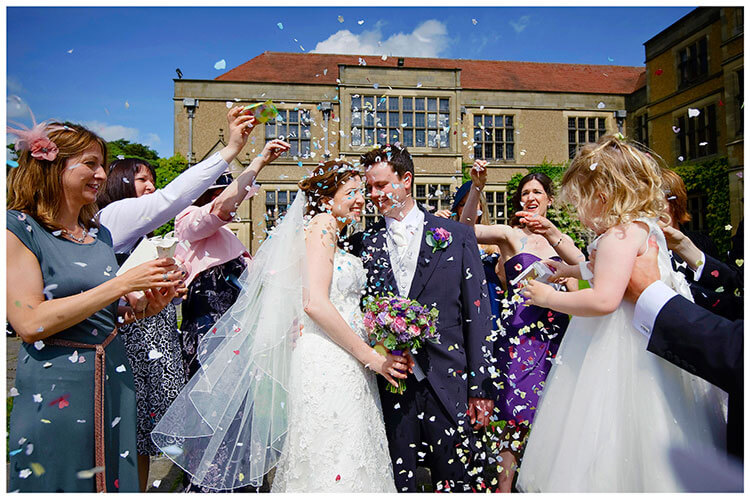 Fanhams Hall wedding confetti