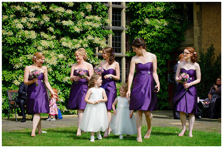 Fanhams Hall wedding bridesmaids flowergirls