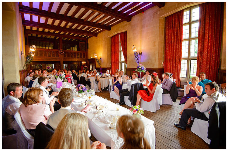 Fanhams Hall wedding breakfast