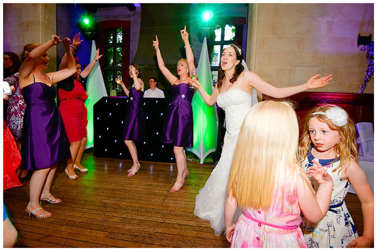 Fanhams Hall wedding on the dance floor