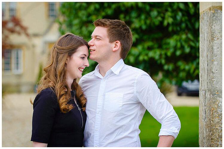 Friars Court Oxfordshire Pre-Wedding Photoshoot  romantic couple embrace