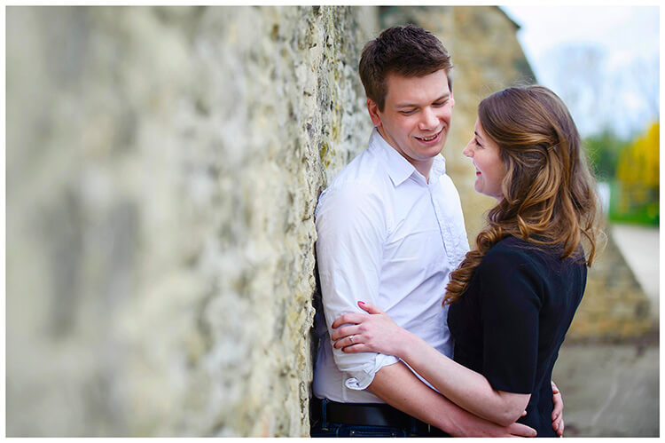 Friars Court Oxfordshire Pre-Wedding Photoshoot  romantic couple share a moment