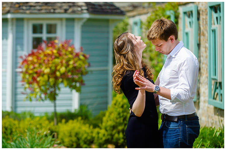 Friars Court Oxfordshire Pre-Wedding Photoshoot  romantic couple dancing in sunshine