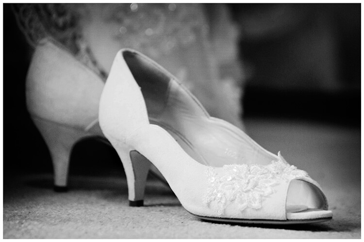 Longstowe Hall Wedding brides shoes