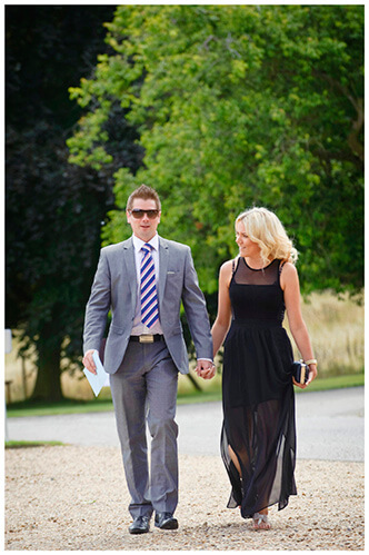 Madingley Hall Wedding guests