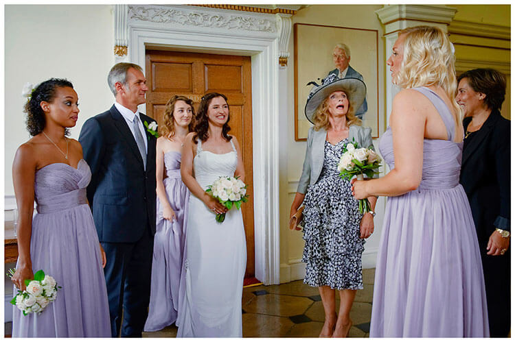Madingley Hall Wedding bridal party