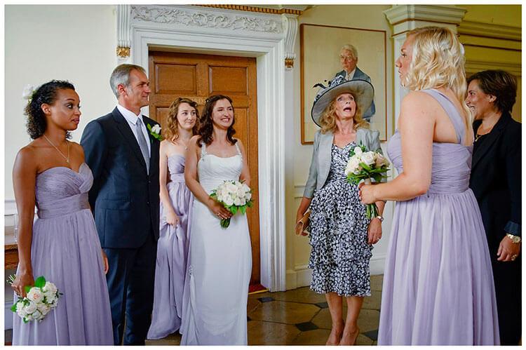 Madingley Hall Wedding bridal party