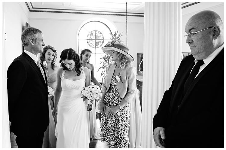 Madingley Hall Wedding brides nervous moments