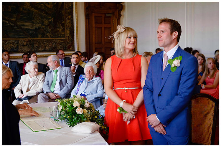 Madingley Hall Wedding groom best woman