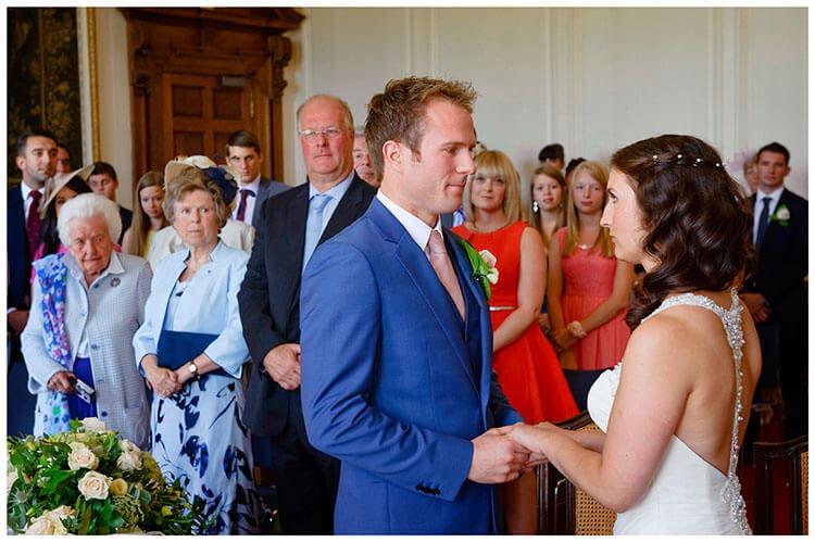 Madingley Hall Wedding nervous looks