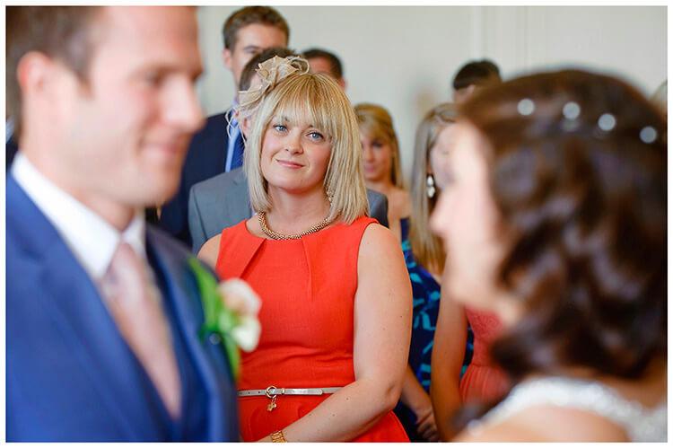 Madingley Hall Wedding happy look