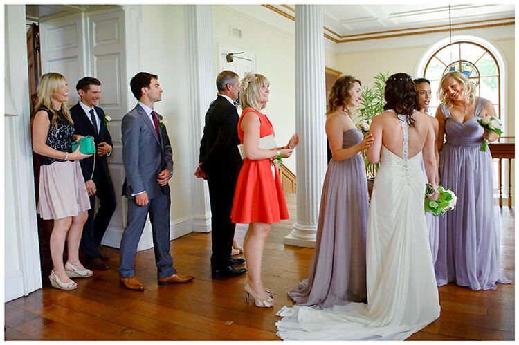 Madingley Hall Wedding after the ceremony