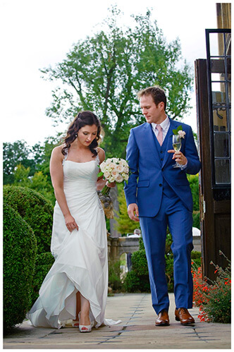 Madingley Hall Wedding bride groom