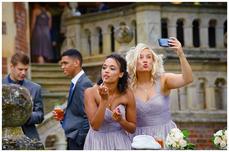 Madingley Hall Wedding selfies and make up