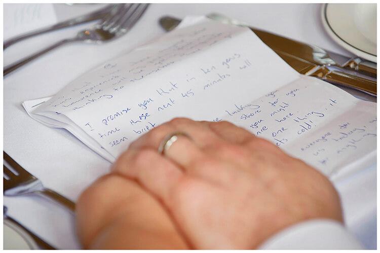 Madingley Hall Wedding speech