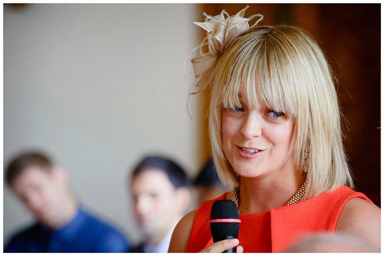 Madingley Hall Wedding best woman speech