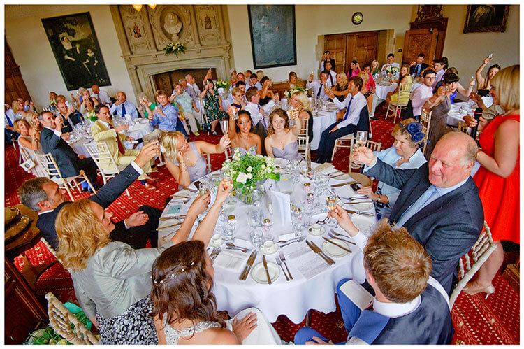 Madingley Hall Wedding cheers