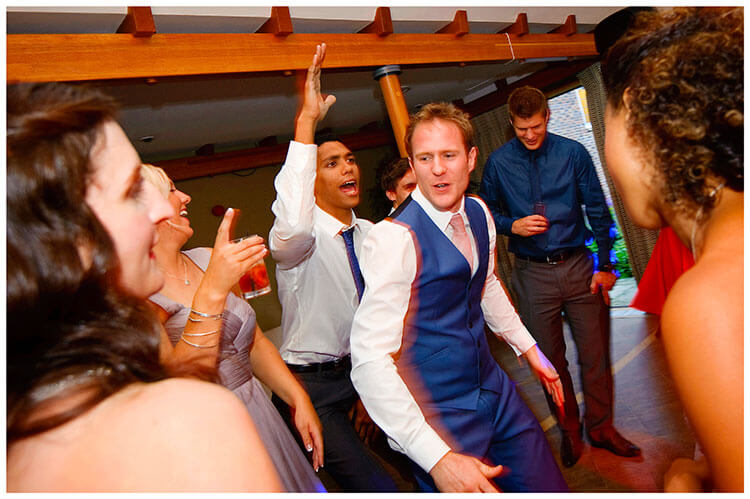 Madingley Hall Wedding groom on the dance floor