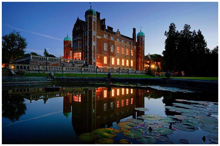 Madingley Hall Wedding venue at night