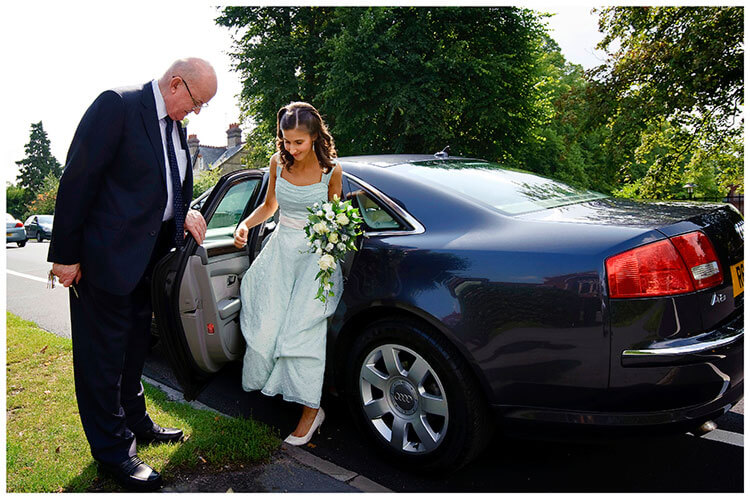 Michaelhouse wedding father helps bride out of car