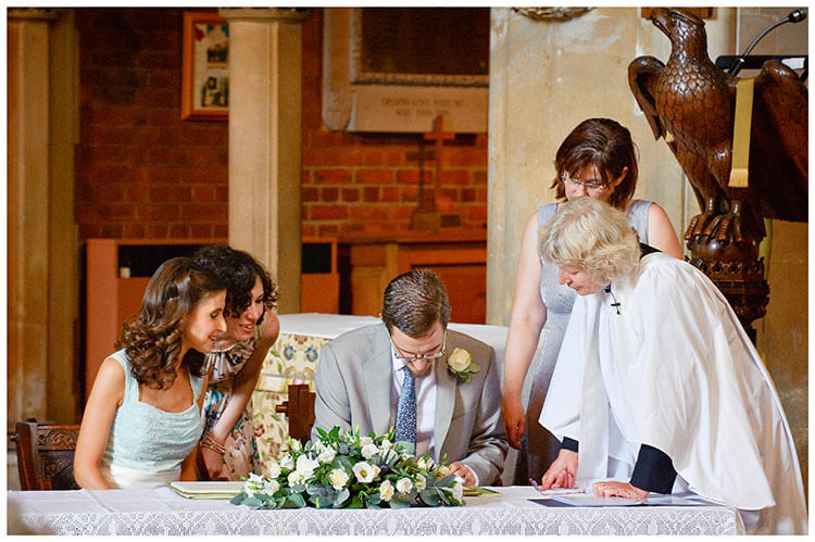 Michaelhouse wedding groom signs register