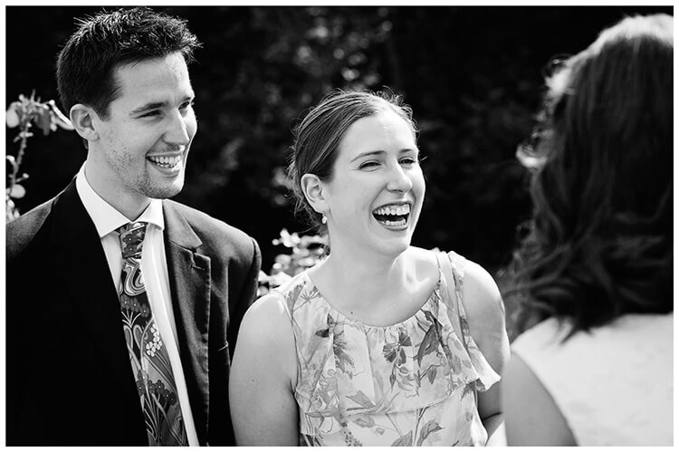 Michaelhouse wedding laughing guests