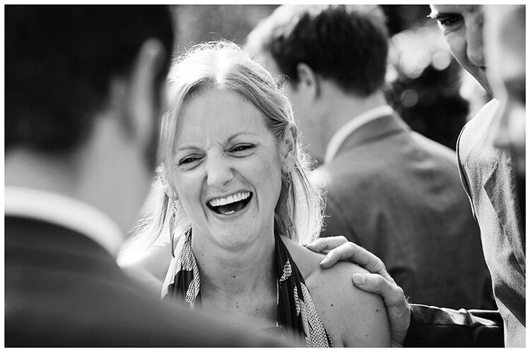Michaelhouse wedding laughing guest
