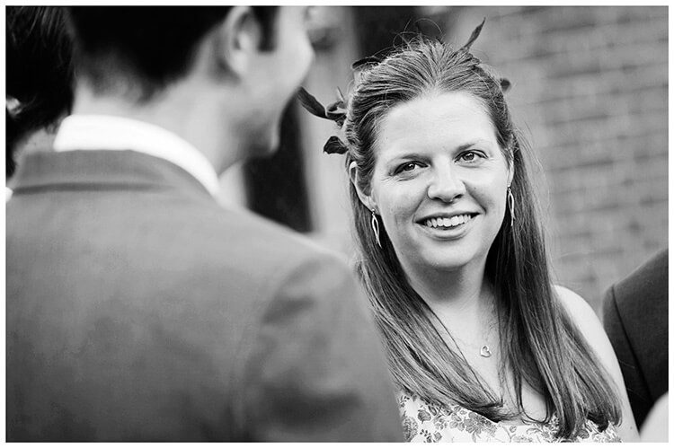 Michaelhouse wedding smiling guest