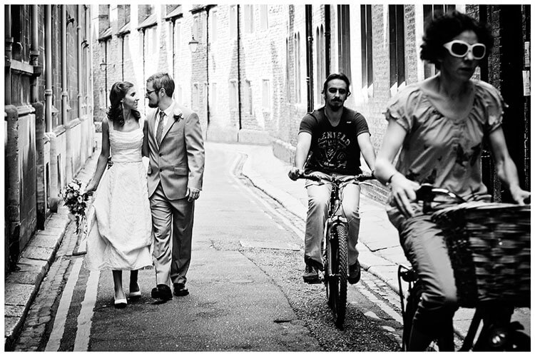 Michaelhouse wedding bride groom cyclists
